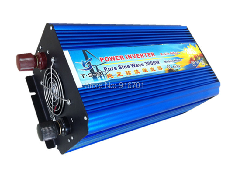 DHL Or Fedex free shipping DC12v 24v optional 3000w pure sine wave inverter AC230v solar wind power system for off-grid system(China (Mainland))