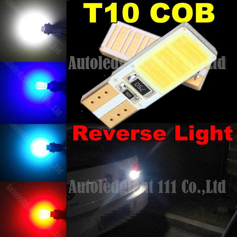 2pcs Canbus T10 COB Led W5W Lamp Light Back Up Reverse Light Blubs For Ford Focus Fiesta Mustang Flex Taurus Fusion Escape(China (Mainland))