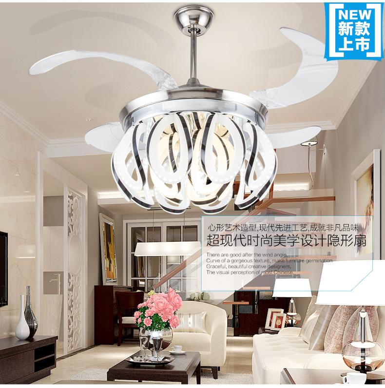 Stealth LED Fan light chandelier variable ceiling chandelier fan light novel simple modern living room dining room lights fan