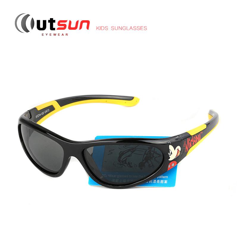 OUTSUN Fashion Summer Kids Sunglasses Super Light Flexible Unbreakable Rubber Children Sun Glasses UV400 Polaroid Safety Goggles(China (Mainland))