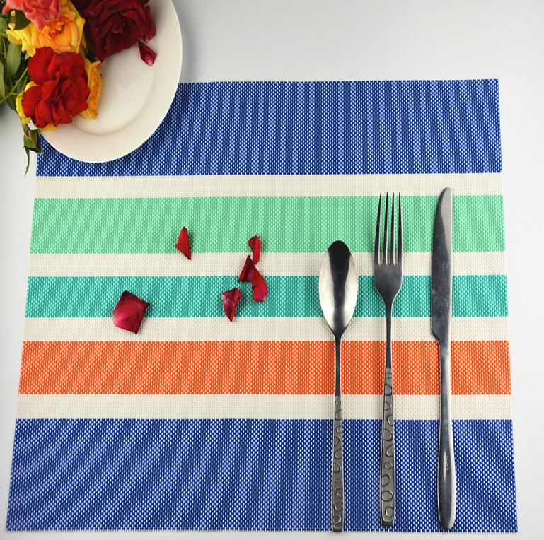 1pieces/lot multi pvc placemat good quality plastic hotel fashiondining table mat brand washed clean breakfast lunch dinner pad(China (Mainland))