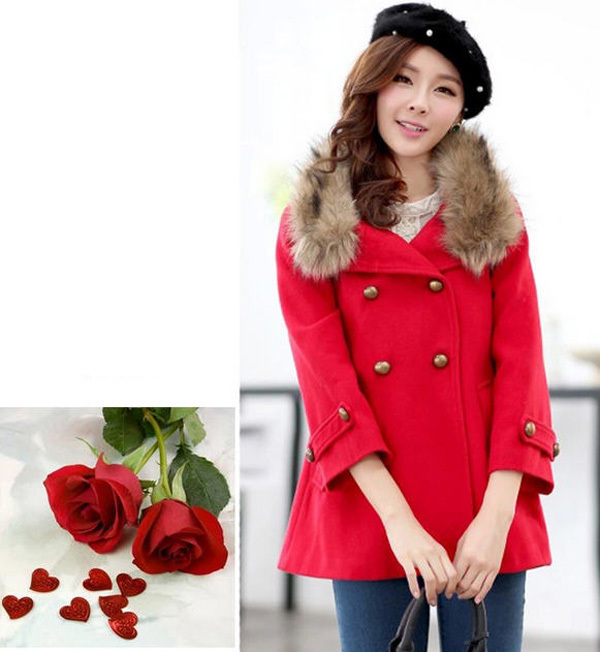 2014 autumn winter female cape woolen coat double breasted stand fur collar overcoat solid epaulet nine points sleeve coat E770(China (Mainland))
