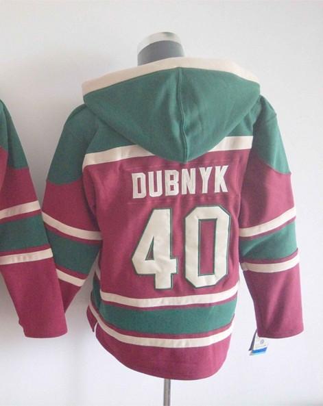 Mens Ice Hockey Hoodies Minnesota Wild Jersey #40 Devan Dubnyk Green.2163<br><br>Aliexpress
