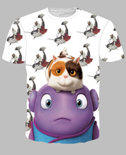 Fashion 3D Print T-shirt Cushions, Homes, Aliens Cotton Unisex Tee Shirts Animation Short Sleeve Casual Homme Loose Summer Tops