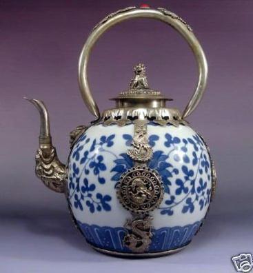 Free Shipping Antique Collectibles Rare Asian China Silver