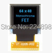0.66 inch 25PIN Full View Blue OLED Screen SSD1306 Drive IC 64*48 (No TP)(China (Mainland))