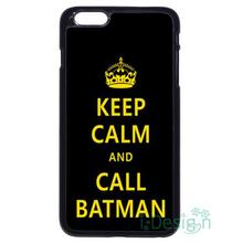 Fit for iPhone 4 4s 5 5s 5c se 6 6s 7 plus ipod touch 4/5/6 back skins cellphone case cover KEEP CALM AND CALL BATMAN