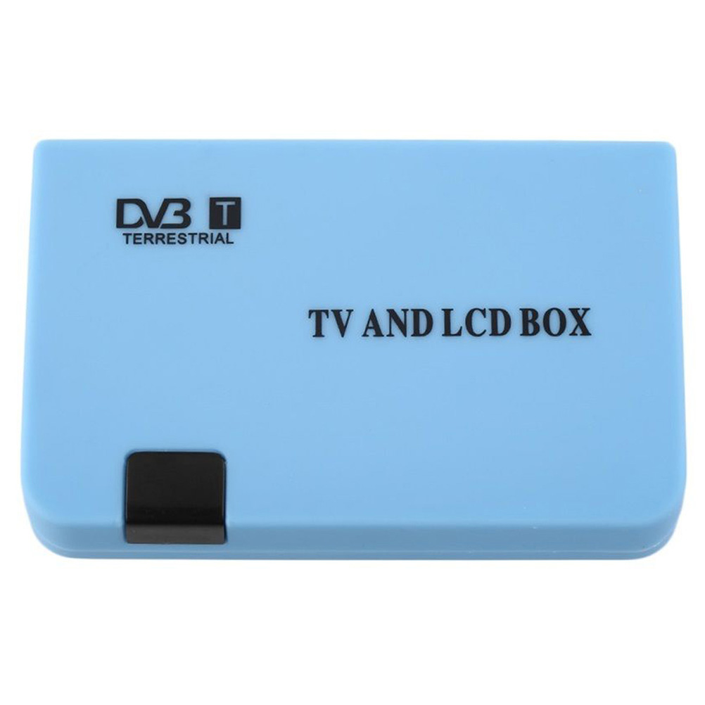 Digital TV Box LCD VGA AV Tuner DVB-T Terrestrial Freeview Receiver with EU-plug Power Adapter (Blue)<br><br>Aliexpress