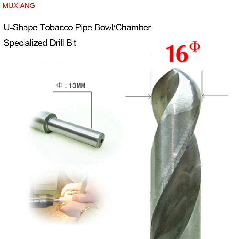 MUXIANG Rosewood & Briar Pipe Drill Bit for the U-shape 16 mm Diameter Smoker Chamber Available for Lathe and Bench Drill jb0016(China (Mainland))