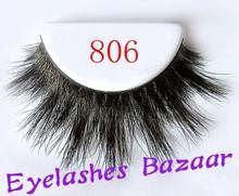Free shipping 806 products high quality brand makeup 100% siberian mink eyelashe(China (Mainland))