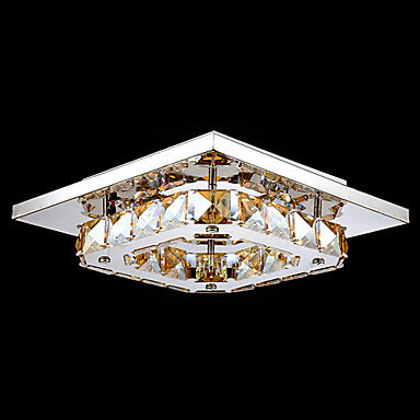 Modern LED Crystal Ceiling Light Lamp Lustres De Sala For Living Room Stainless Steel Free Shipping(China (Mainland))