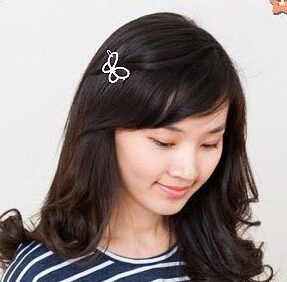 TS361 Hot New Korean Version Of The Exquisite Inlaid Imitation Diamond Bow Hair Clip Hairpin E dge Wholesale(China (Mainland))