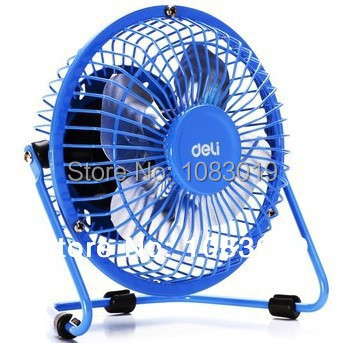 Гаджет  New 3680 All metal USB cooler air conditioning Mini desktop small ventilador portable electric table fans with color blue None Бытовая техника