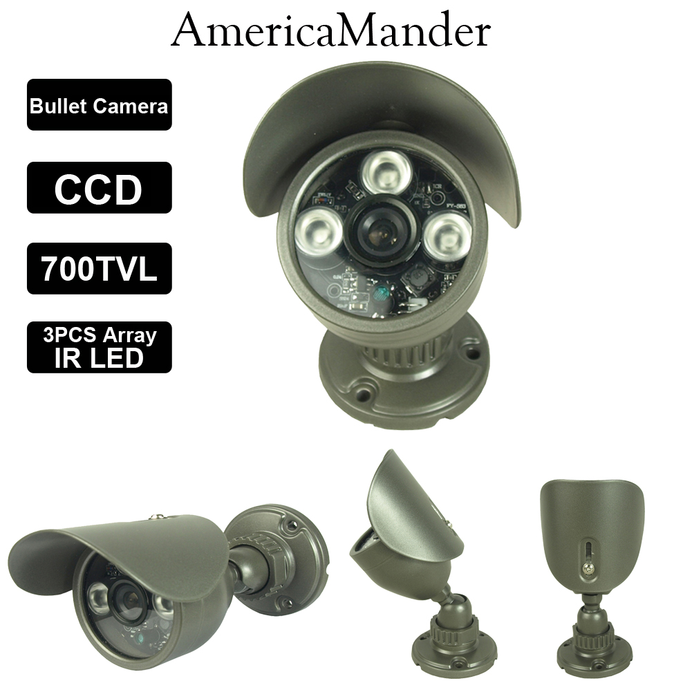 """1/3"""" Sony Effio-e 700TVL Bullet CCTV Camera 960H 3Array IR LEDS Outdoor Indoor Waterproof Security With Bracket Free Shipping(China (Mainland))"""
