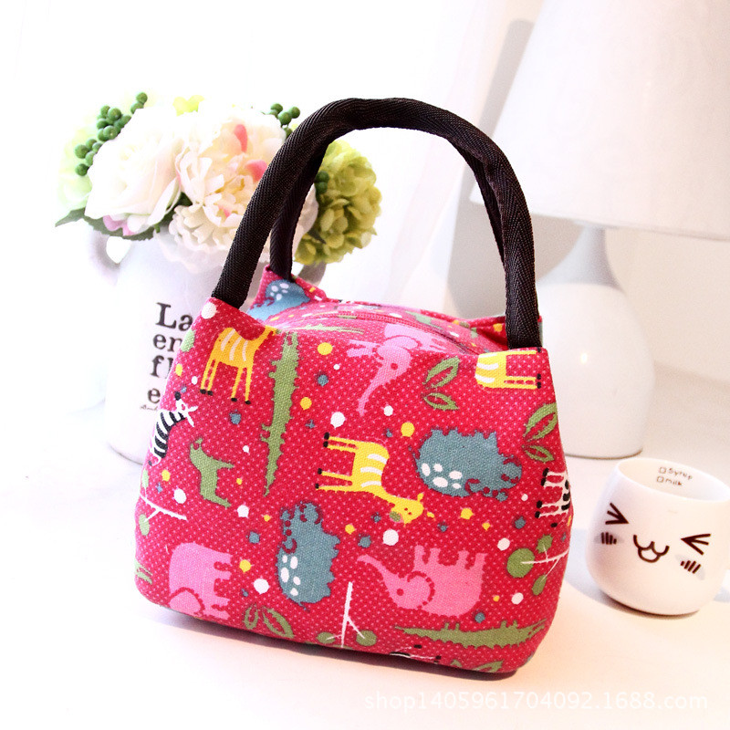 2016 New Fashion Portable Insulated Canvas lunch Bag Thermal Food Picnic Lunch Bags for Women kids Men Cooler Lunch Box Bag Tote(China (Mainland))