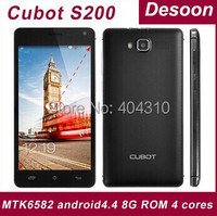"Cubot S200 Quad core MTK6582 1.3GHZ android 4.4 5.0"" IPS 8G ROM 3300mah battery OTG Google play mobile phone/Maksim"
