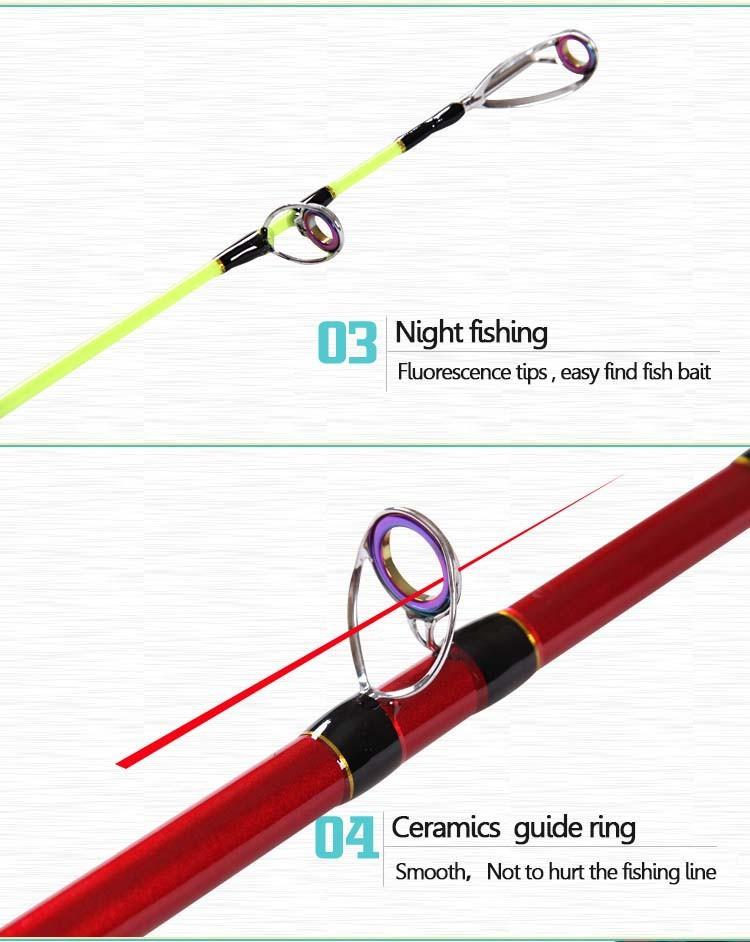 1 8 boat jigging trolling fishing rod for big game for Big fishing pole