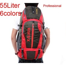 Brand Outdoor Men Women large camping Hiking bag Backpack Trip Travel Luggage Bag 55L outdoor hunting Cycling Riding Backpack