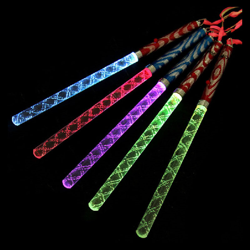 26CM Acrylic LED Glowing Sticks Light up toys bachelorette party Christmas Party ornament decoration(China (Mainland))