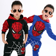 2016 NEW Spring Children Sets Spiderman Kids Clothing Sets Children Fashion Cartoon Summer Shirt + Pants Boys Tees Pants Suit