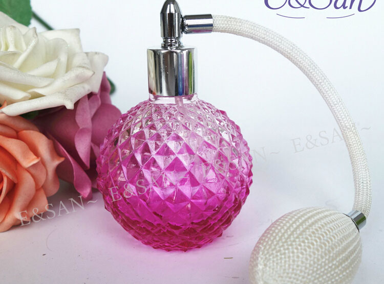 100PCS New Refillable empty Perfume Bottle + Air Bag ,100ML colorful Glass Perfume Atomizer Bottle(China (Mainland))