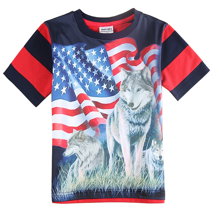 Europe And America Hot Sale Kids 3d Printed T Shirt