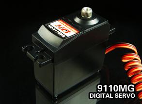 Фотография HD 9110MG 10.5KG Power large torque metal tooth digital rudder 20-50cc gasoline engine application