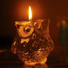 Owl  the ancient Greek goddess of wisdom Athena's sacred bird symbol of mystery wisdom candle gift sets home Decoration(China (Mainland))