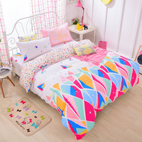 High-Density Duvet covers set bedding sets,Cotton Bed Set Colorful Bedclothes,Contain 1 Quilt Cover 2 Pillowcases #HM4801
