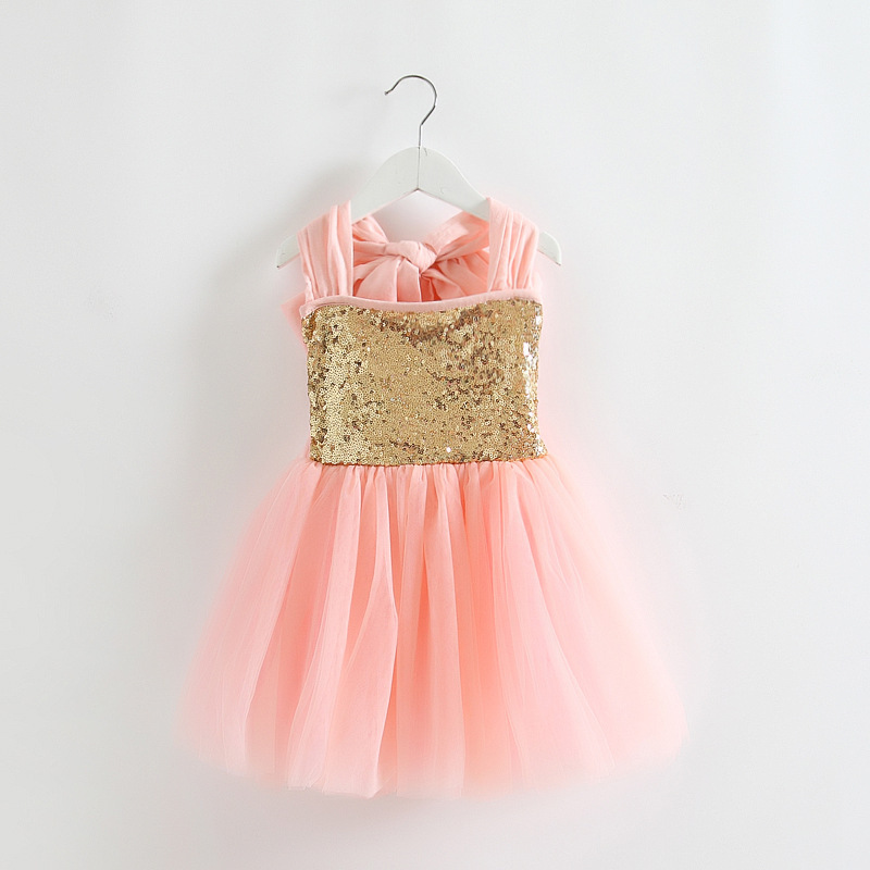 Pink tulle girls party wedding dress kids clothes for christmas
