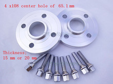 2 pieces of 4 x108, center hole 65.1 mm, wheel hub adapter, spacers, suitable for Peugeot series 206, 207, 307, 308, 406, 408(China (Mainland))