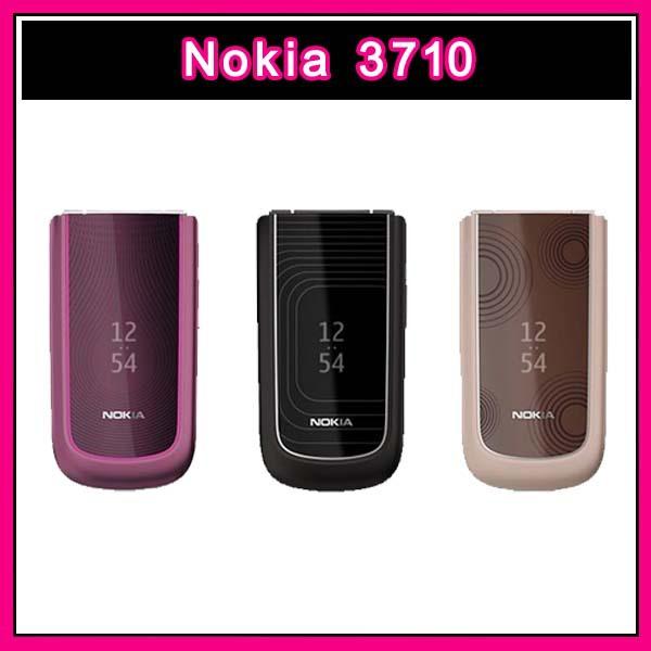 3710 Original unlocked Nokia 3710F Mobile Phone Flip phone 3G 3.2MP Good quality Refurbished multilingual(China (Mainland))