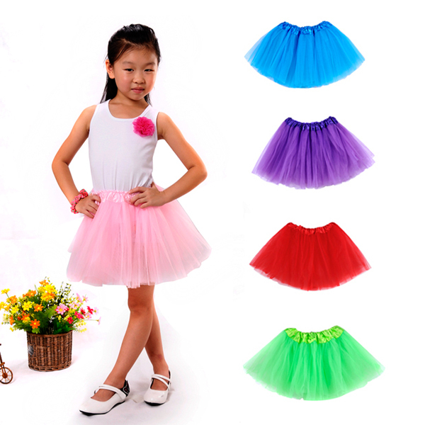 2015 Princess party skirt girl new baby tutu skirt dance wear kids skirts Solid skirt for girls(China (Mainland))