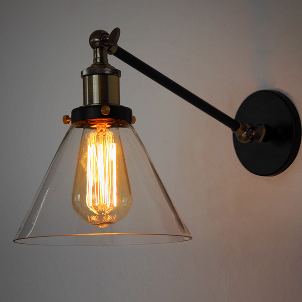 Wall Lights In Sheffield : American Country Loft Loft Swing Arm Wall Sconce Retro Warehouse Ambient Lighting Glass ...