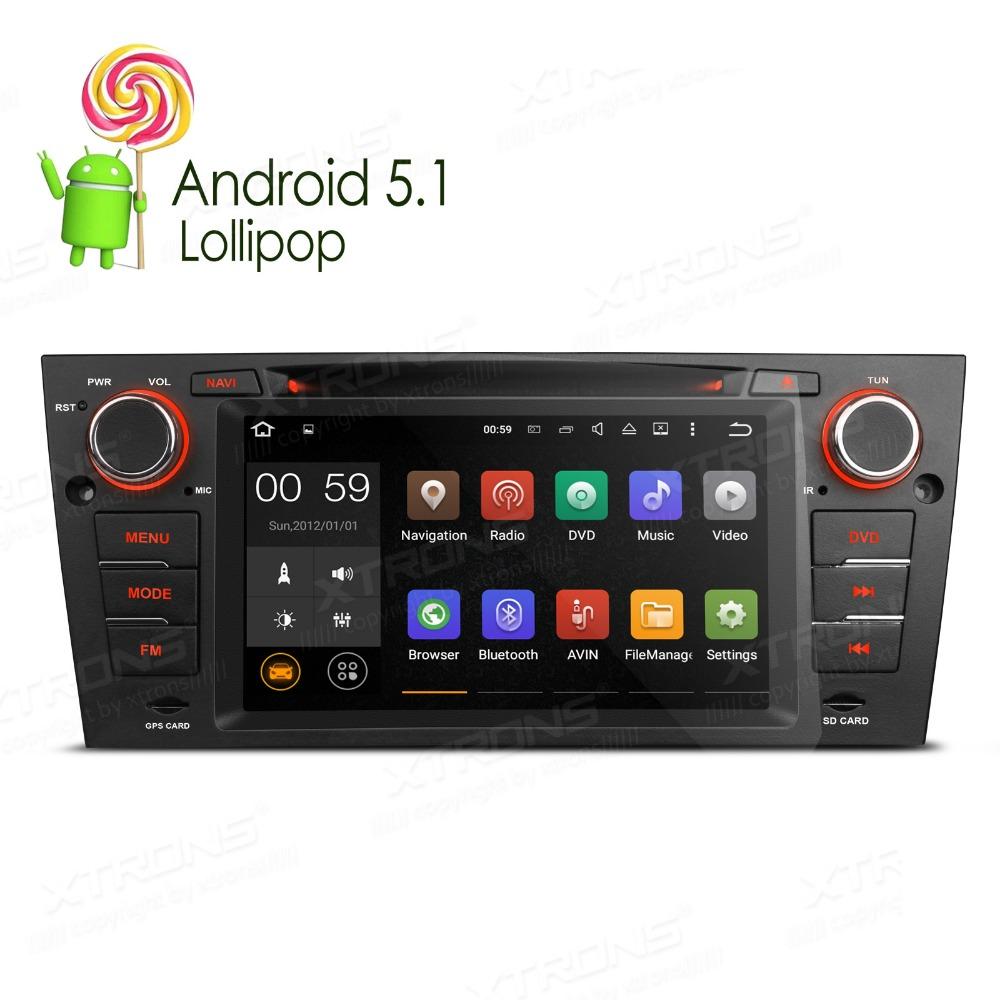 "XTRONS 7"" 1din Android 5.1 car dvd player touch Screen1080P Video WiFi CANbus Car stereo automotivo for BMW E90 E91 E92 E93(China (Mainland))"