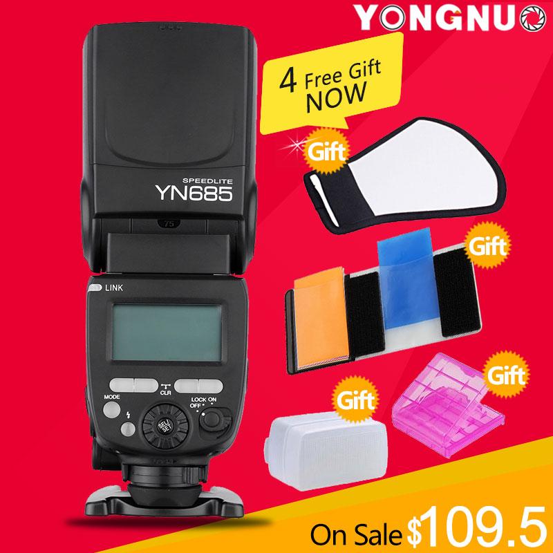 YONGNUO YN685 Wireless 2.4G HSS TTL/iTTL Speedlite Flash for Canon Nikon support YN560IV YN560-TX RF605 RF603 II YN685C YN685N(China (Mainland))