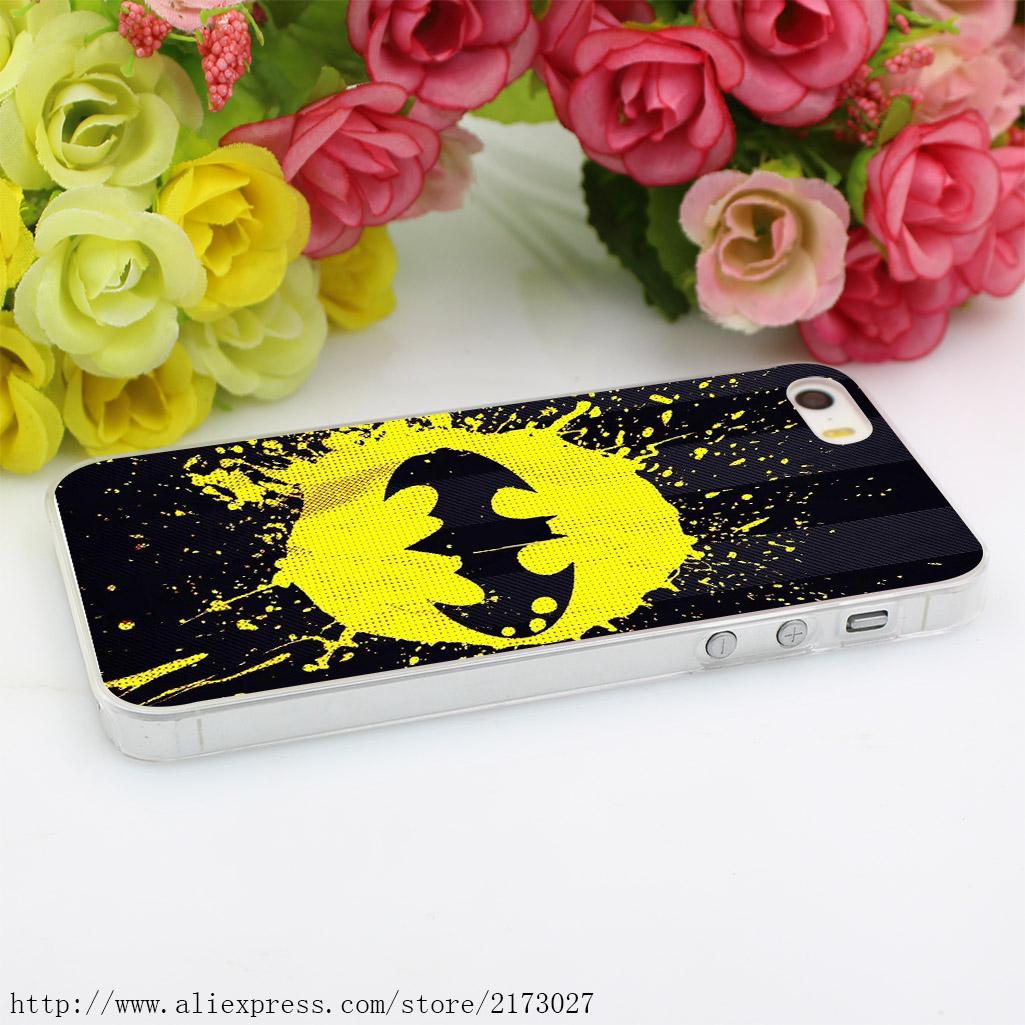 63HK Batman dc comics stripes Hard Case Transparent Cover for iPhone 4 4s 5 5s 5c SE 6 6s 7 & Plus