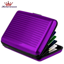 1pcs Credit Card Holder Business Card Holder Card Porte Carte Credit Card Protector Waterproof Box Case Free Shipping XY135(China (Mainland))