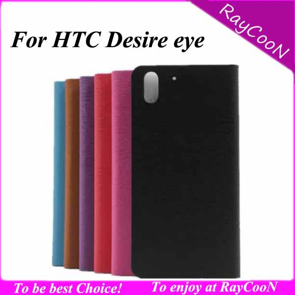 10pcs/lot Brand New High Quality Stylish wood pattern PU Leather stand case for HTC Desire eye,for HTC eye leather wallet case