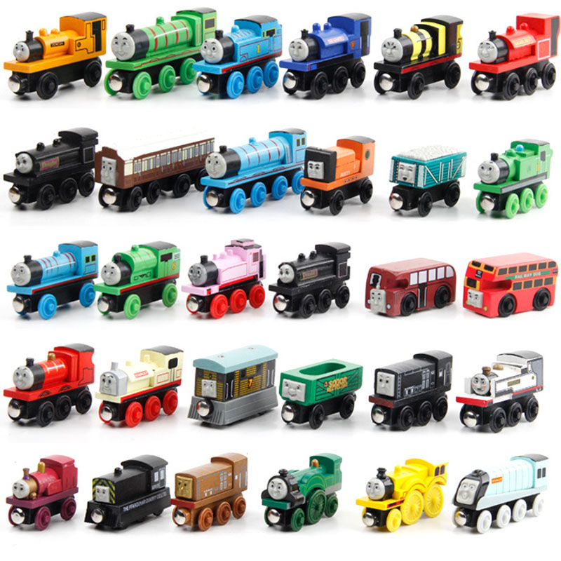 6pcs/lot Anime Wooden Magnetic Thomas Circus Train Donald Lady Gordon and Friends Lorry Track Railway Model Christmas Gifts Toy(China (Mainland))
