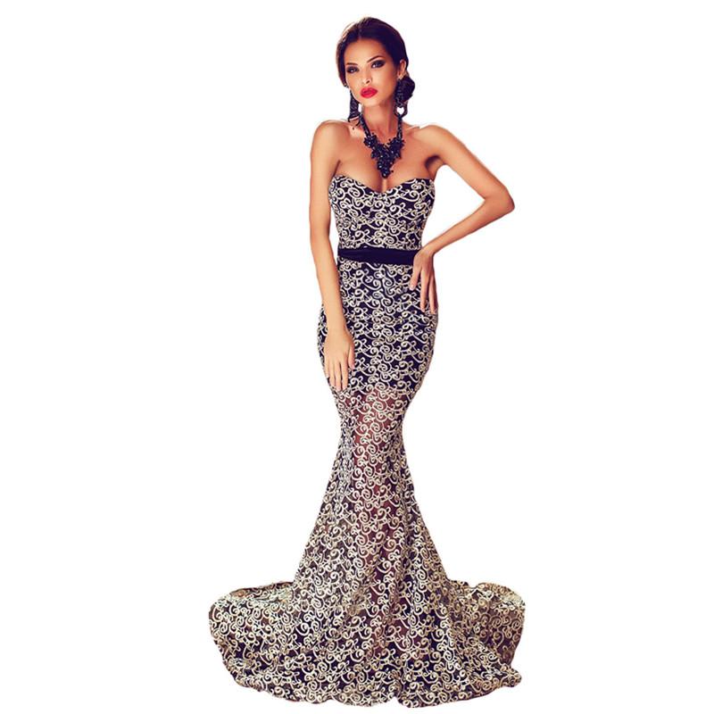 Hot Sale Valentine Vintage Women Summer Backless Dresses Elegant Strapless Formal Mermaid Evening Gown LC60891 Robe Longue Femme(China (Mainland))