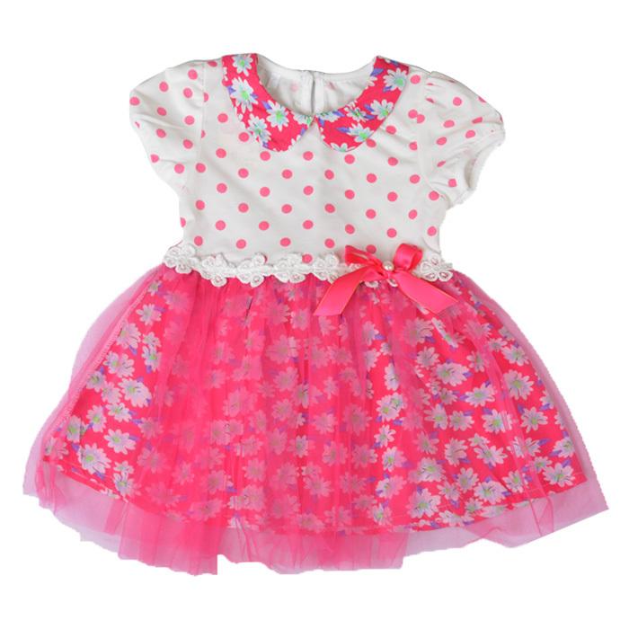 Free Shipping Kids Summer Dress Polka Dot Pattern With Silk Ribbon Girls Cute Small Suihua Dress A2009(China (Mainland))