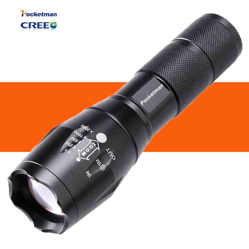 HOT E17 LED Flashlight ZOOM CREE 3800LM Waterproof Lanterna LED 5 Modes Zoomable Torch AAA 18600 battery Flashlight Linterna led(China (Mainland))