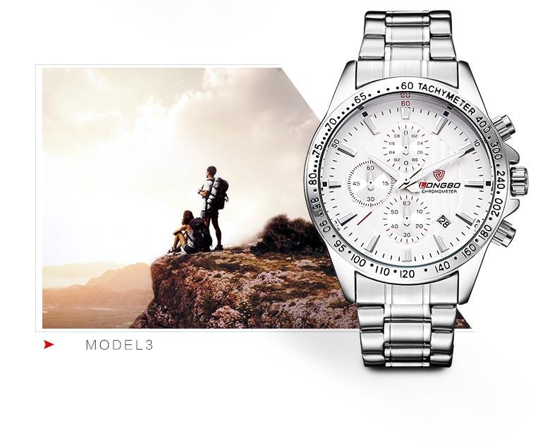 LONGBO Luxury Auto Дата Часы Из Нержавеющей Стали Мужчины Спорт Военная Кварцевые Часы Водонепроницаемые Наручные Часы Relogio мужской 80177