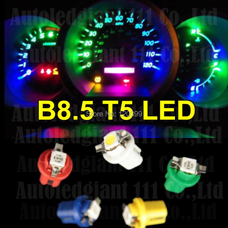 10pcs Bright White B8.5D B8.5 T5 LED 509T Car Led Gauge 1SMD 5050 Led Speedo Dash Bulbs Instrument Light Bulb Dashboard Light(China (Mainland))