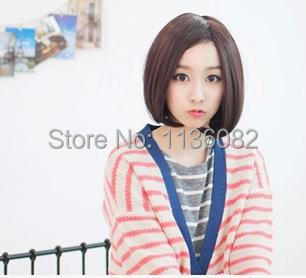 !2014 New Fashion Womens Ladies Short Straight Full Bangs BOBO Hair Cosplay Wig best deal