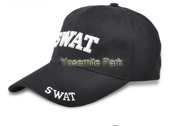 fashion!Military army hat black SWAT Tactical Baseball Caps Adjustable camping Sun Hat men Cotton Canvas For Camping(China (Mainland))