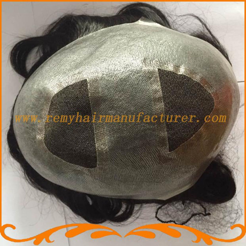 New arrival,base top and back swiss lace and around pu, Indian hair, v-loop,men toupee free shipping DHL,FEDex<br>