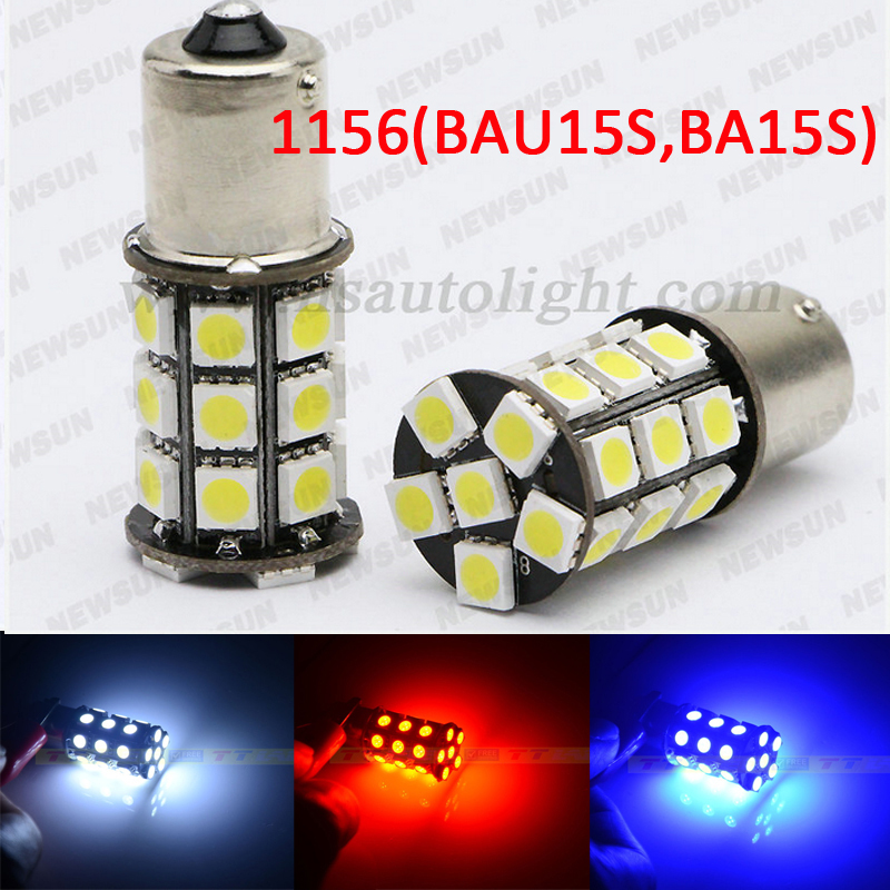 Error canbus 1156 BA15S P21W LED 27 SMD 5050 Brake Tail reverse Turn Signal Light Bulb Lamp 12V white blue yellow red green - NEWM Autolight Store store