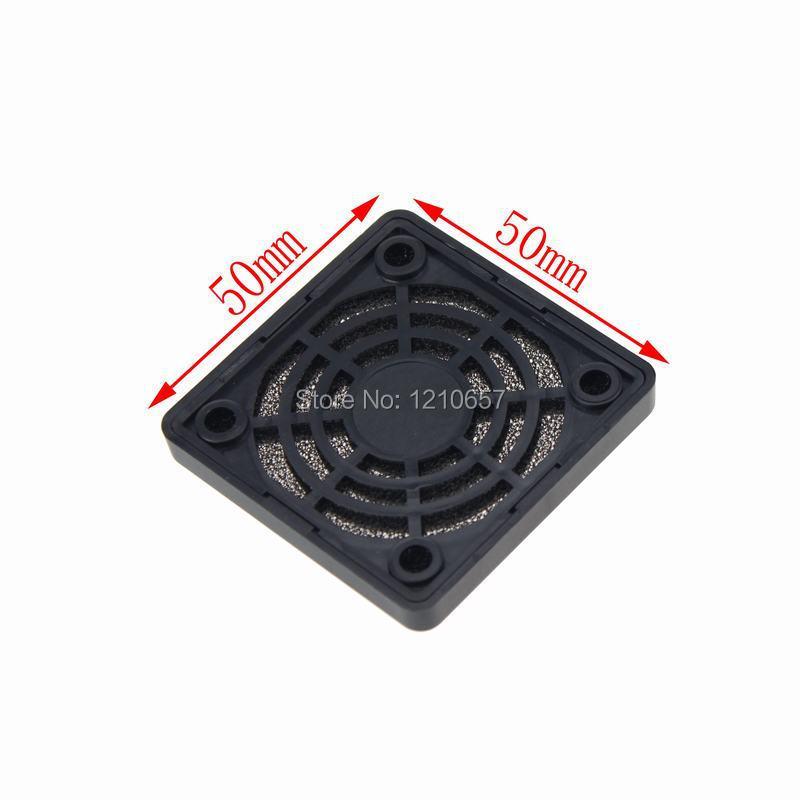 5 Pieces LOT Guard Black Plastic Dustproof Filterable 50mm Computer Fan Filter(China (Mainland))